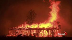 Fierce winds spread deadly, out of control fires in California